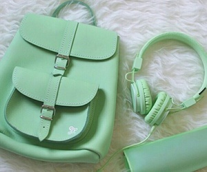 green, backpack, and aesthetic image