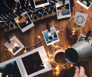 photo, lights, and coffee image