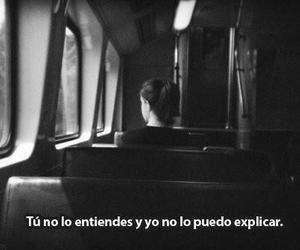 frases, black and white, and alone image