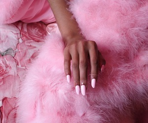 pink, nails, and fur image