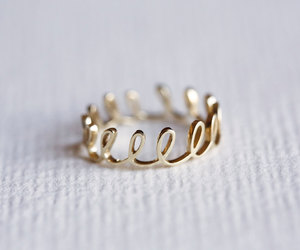 etsy, 14k gold ring, and dainty rings image