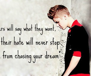 Dream, quote, and justin bieber image