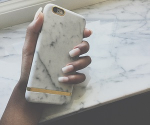 iphone, marble, and nails image