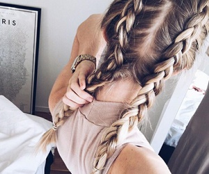 blonde, braids, and fashion image