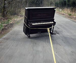 piano and road image