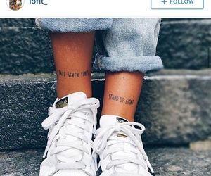 girl, leg tattoo, and Tattoos image