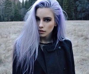hair, girl, and purple image