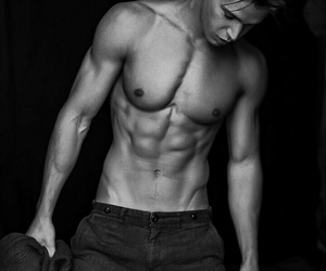 abs, black, and boy image