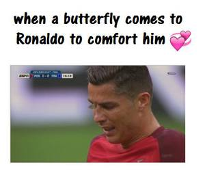 but, butterfly, and cristiano ronaldo image