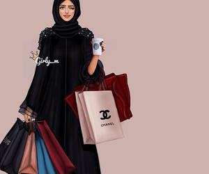 shopping, girly_m, and hijab image