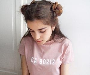 girl, pink, and tumblr image