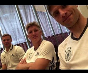 manuel neuer, bastian schweinsteiger, and thomas muller image
