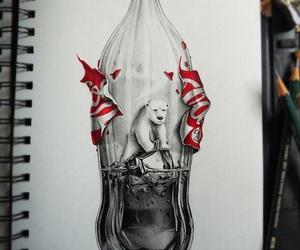 art, coca-cola, and drawing image