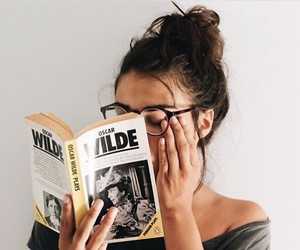 book, read, and glasses image