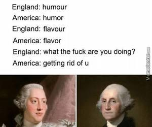 america, funny, and england image