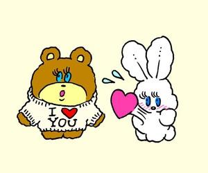 bear, couple, and foxy image