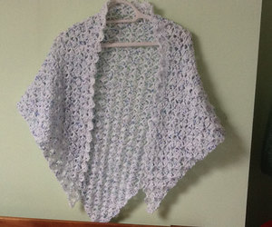 crocheted shawl, triangle shawl, and crocheted wrap image