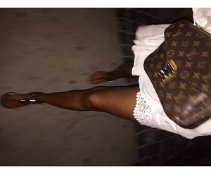 bag, Louis Vuitton, and brown bag image