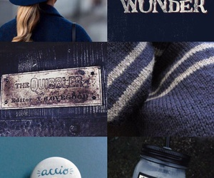 aesthetic, blue, and harry potter image