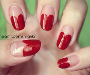 heart, nail polish, and nails image
