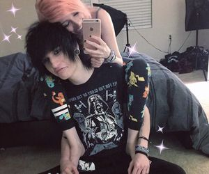 couple, emo girl, and cute image