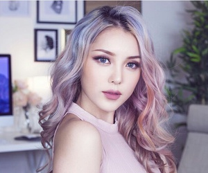 pony, hair, and korean image