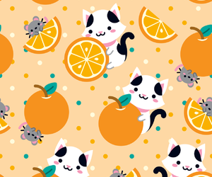 background, orange, and cat image