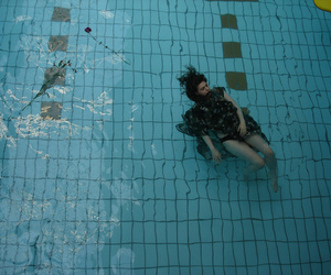 girl, grunge, and pool image