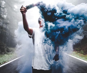 blue, boy, and smoke image