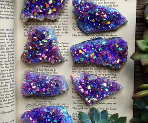 book, crystal, and stone image