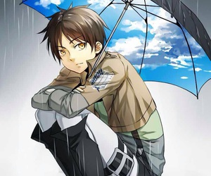 attack on titan, anime, and eren jaeger image