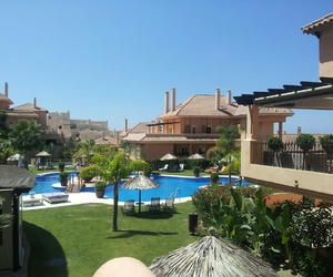 marbella, pool, and travel image