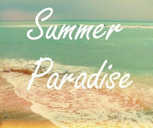 summer, paradise, and beach image