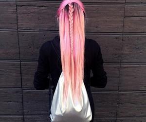 girl, pink, and beautiful image