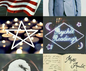 aesthetic, flag, and psychic image