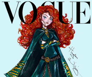 vogue, disney, and merida image