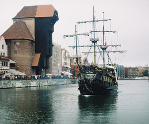 ship, boat, and gdansk image