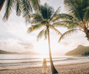 beach, ocean, and Queensland image
