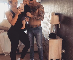 tammy hembrow, reece hawkins, and baby image