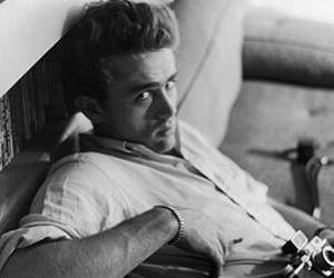 james dean, black and white, and boy image