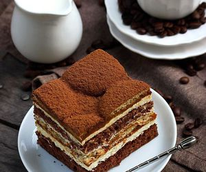 cake, coffee, and tiramisu image