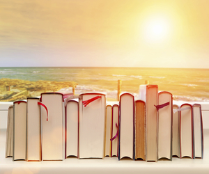 books, summer, and reading image