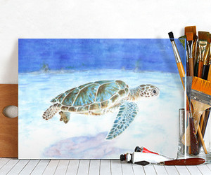 displate, home decor, and watercolor image