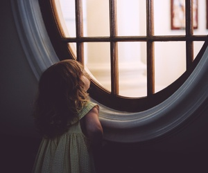 window, child, and Dream image