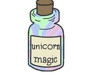 unicorn, magic, and overlay image