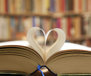book and heart image