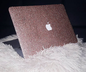 apple, pink, and macbook image