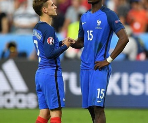 antoine griezmann, france nt, and pogba image