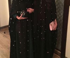 sparkle, stars, and abaya image