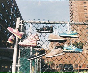shoes, sneakers, and city image